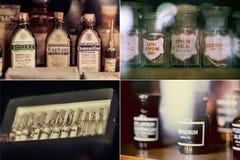 Medicamentações do vintage Fotografia de Stock
