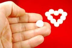Medicamentação da doença cardíaca Fotos de Stock Royalty Free