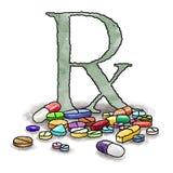 Medicamentos de venta com receita Fotografia de Stock