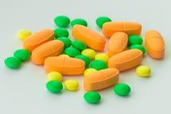 Medicamentos de venta con receta, cierre para arriba imagen de archivo