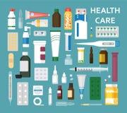 Medicaments ustawiają ilustracje ilustracji