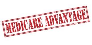 Medicare κόκκινο γραμματόσημο πλεονεκτήματος στοκ εικόνα με δικαίωμα ελεύθερης χρήσης