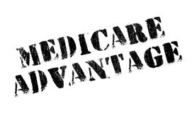 Medicare Advantage rubber stamp Royalty Free Stock Images