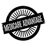 Medicare Advantage rubber stamp Royalty Free Stock Photo