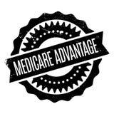 Medicare Advantage rubber stamp Stock Image
