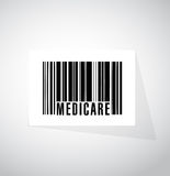 Medicare barcode sign concept illustration Stock Images