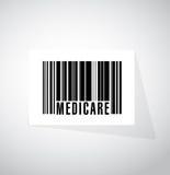 Medicare barcode sign concept illustration. Design over white Stock Images