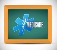 Medicare board sign illustration design Stock Photos