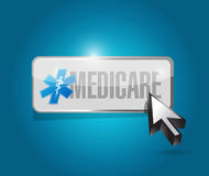 Medicare button sign concept illustration design Stock Photography