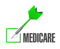 Medicare check dart sign concept Stock Images