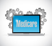 Medicare computer technology sign concept. Illustration design over white Royalty Free Stock Photography