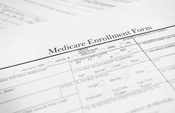Medicare form Stock Photography