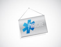 Medicare hanging sign illustration design Stock Image