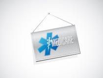 Medicare hanging sign illustration design royalty free illustration