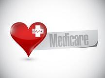 Medicare heart sign concept illustration. Design over white Stock Photo
