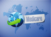 Medicare international sign illustration Stock Image