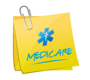 Medicare memo post sign illustration Stock Photography