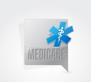 Medicare message sign concept illustration Stock Photo