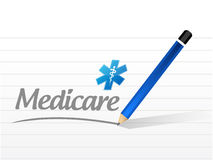 Medicare message sign illustration Royalty Free Stock Photo