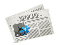 Medicare paper sign concept illustration Royalty Free Stock Photography