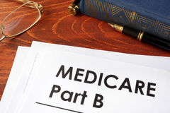 Medicare part b. Document with title medicare part b royalty free stock photos