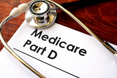 Medicare Part D. Document with the title Medicare Part D royalty free stock photo