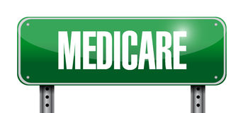 Medicare road sign illustration design Stock Photos
