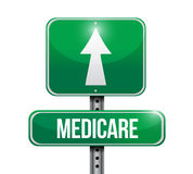 Medicare road sign illustration design. Over white Royalty Free Stock Image