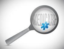 Medicare search sign concept. Illustration design over white Stock Image