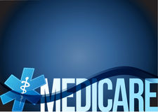 Medicare sign concept illustration design. Over blue Stock Image