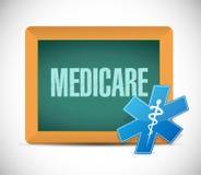 Medicare-Tafelzeichenkonzept stock abbildung