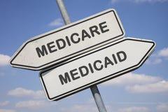 Medicare vs. medicaid Stock Photos