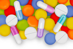 Medication. Capsules and pills are important for the health Royalty Free Stock Images