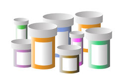 Medication Bottles Stock Photo