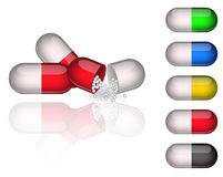 Medication capsules Royalty Free Stock Image