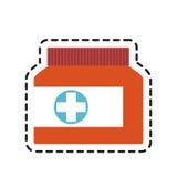 Medication icon image Royalty Free Stock Photography