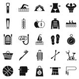 Medication icons set, simple style Royalty Free Stock Images