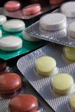Medication III. Different types of medicines in blisterpack Stock Images