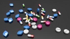 Lots of Pills. Medication - Lots of Pills - pharmacy - antibiotic Royalty Free Stock Photography