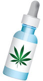 Medication with marijuana. In a bottle with dropper. Vector illustration Stock Image