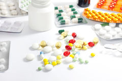 Medication and pills Royalty Free Stock Photos