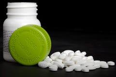 Medication Pills. Pills on a black background Stock Photography