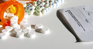 Medication and prescription Royalty Free Stock Photo