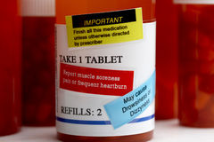 Medication in prescription bottle Stock Images