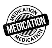 Medication rubber stamp Stock Photo