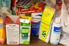 Medication on shelf Royalty Free Stock Photography