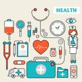 Medication supplies set Royalty Free Stock Images
