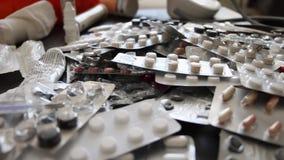 Medication lying on table, detail, antibiotics, antiviral, coronavirus outbreak 2020 update