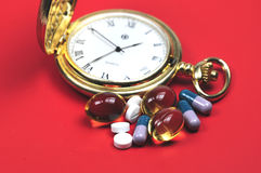 Medication time Royalty Free Stock Photos