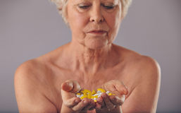 Medication to stay young Stock Photography